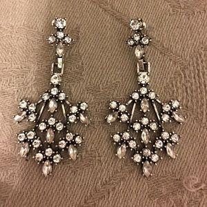 Anthropologie NWOT Crystal Chandelier Earrings